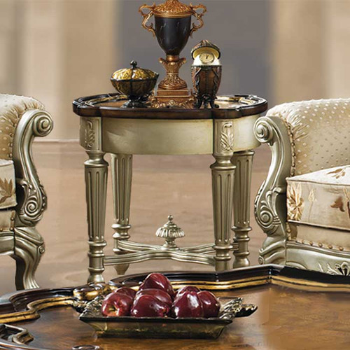 Celeste Antique Silver End Table
