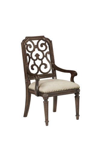 View of the Miabella Fretwork Arm Chair.