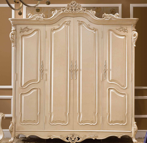 View of the Celeste 4 Door Armoire