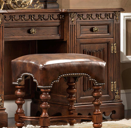 View of the St. Augustine Cacao Dresser Bench
