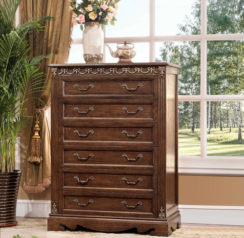 View of the St. Augustine Cacao Six Drawer Chest