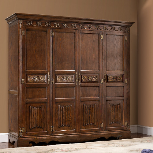 View of the St. Augustine Cacao Four Door Armoire