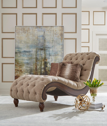 View of the Birchwood Taupe Chaise