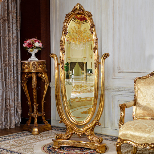 French Gilded Cheval Mirror