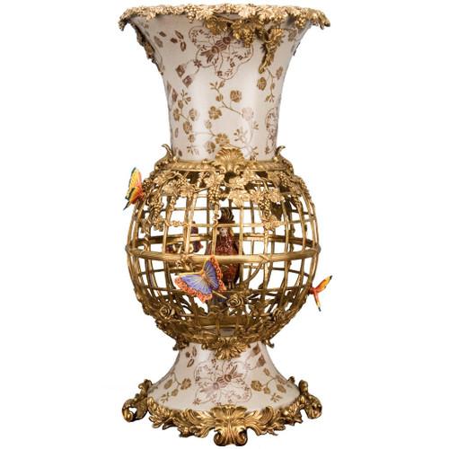 Gilded Cage Vase