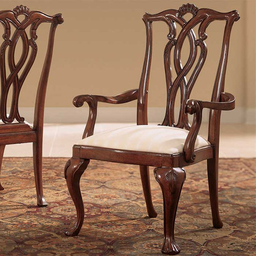 Cherry Lane Pierced-Back Arm Chair