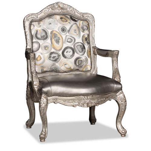 View of the Silver Oyster Arm Chair.