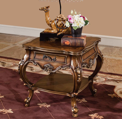 View of the Palais de Bronze End Table.