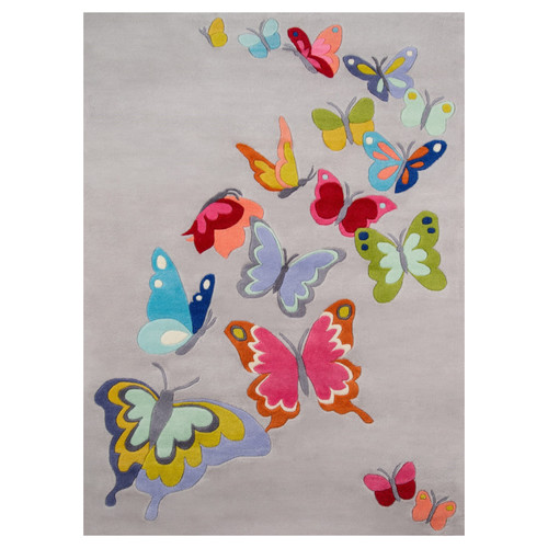 Butterfly Flutter Grey Rug