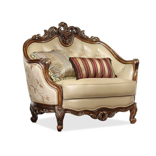 View of the Marquetry Accent Chair.