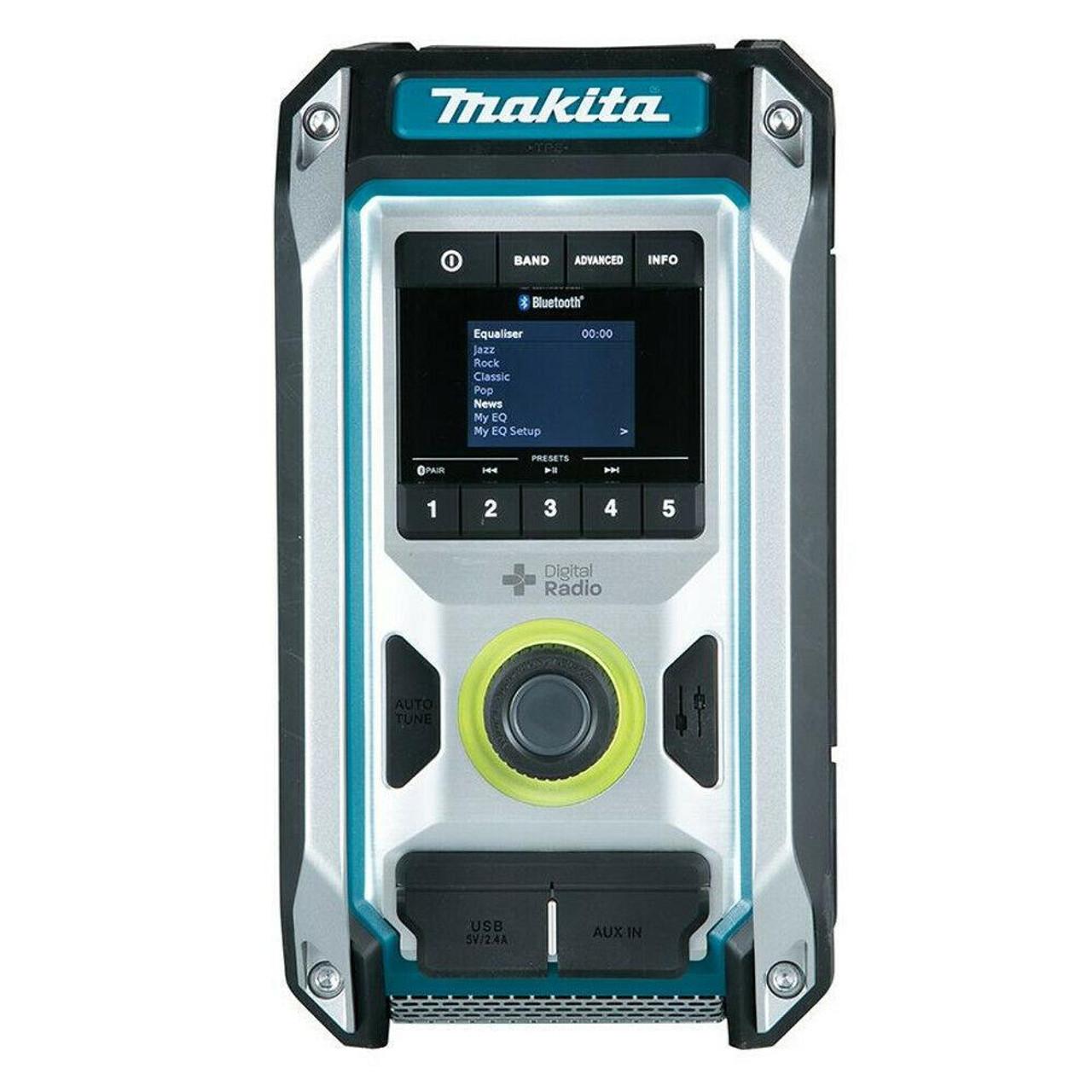 Makita Portable Compact Job Site Radio 12V MAX CXT Li-Ion Cordless MP3 Bare