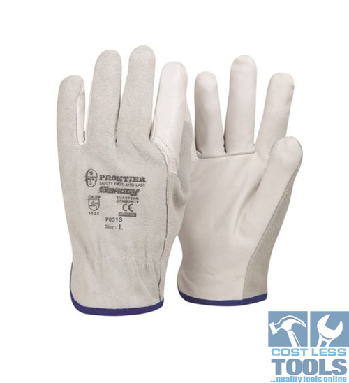 Leather Riggers Gloves - 12 Pairs (All Sizes Available)
