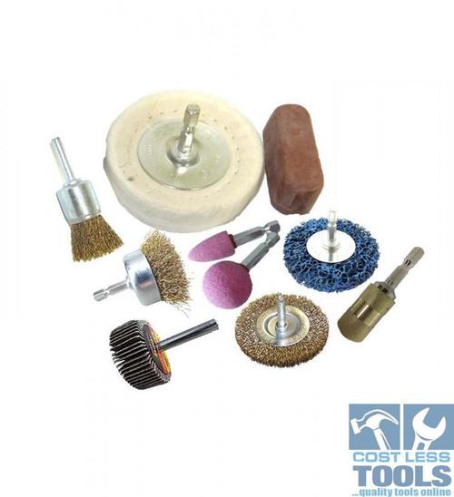 Josco 10 Piece Drill Brush Accessory Kit - BDAK10