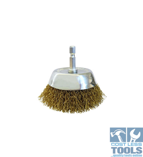 Josco Hex Shank Crimped Cup Brush (Various Sizes)