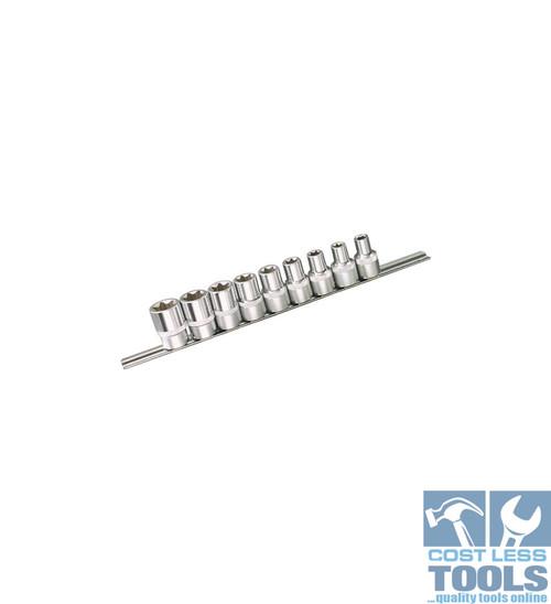 """Kincrome E-TORX® Socket Set 9 Piece 1/2"""" Square Drive"""