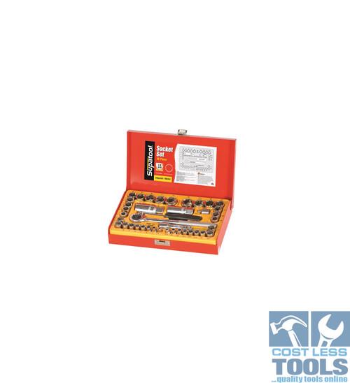 "Kincrome Socket Set 40 Piece 1/4 & 3/8"" Square Drive"