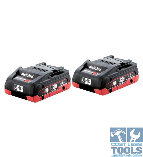 Metabo 18V 4.0Ah LiHD Twin Battery Pack AU32102400