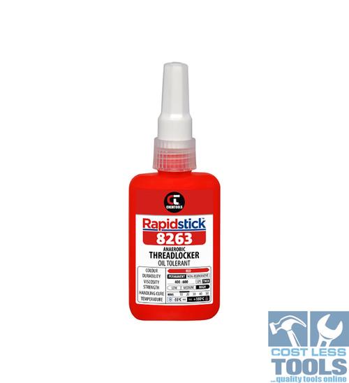 Chemtools Rapidstick ® 8263 Red High Strength (Oil Tolerant) Threadlocker 50ml