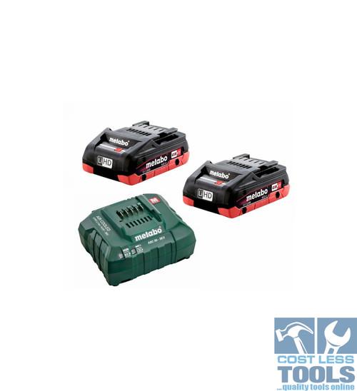 Metabo 18V 4.0Ah LiHD Battery / Charger Starter Kit - AU32100400
