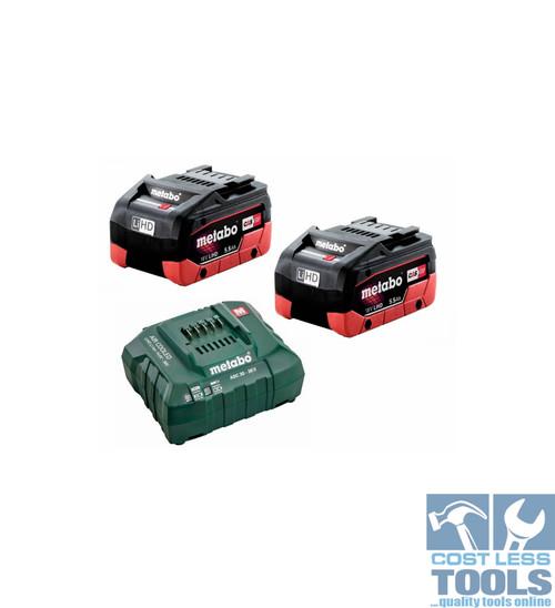 Metabo 18V 5.5Ah LiHD Battery / Charger Starter Kit - AU32100104