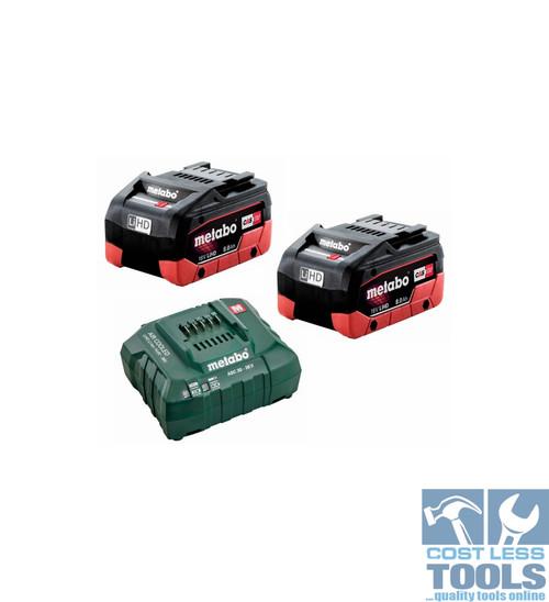 Metabo 18V 8.0Ah LiHD Battery / Charger Starter Kit - AU32100800