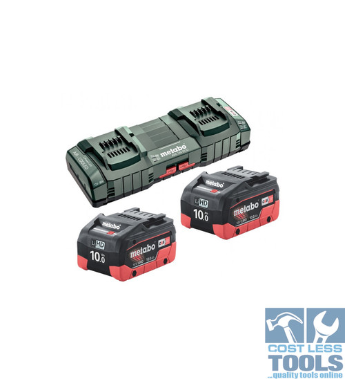 Metabo 18V 10.0Ah LiHD Battery / Superfast Charger Duo Kit AU62749810
