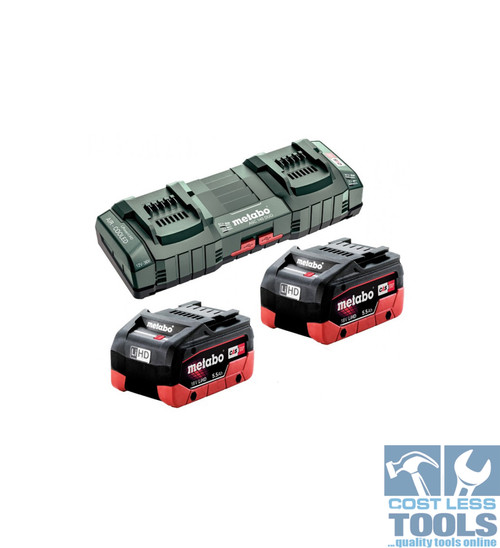 Metabo 18V 5.5Ah LiHD Battery / Superfast Charger Duo Kit AU62749805