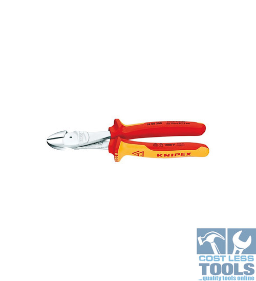 Knipex 1000V VDE High Leverage Diagonal Cutters - 74 06 200