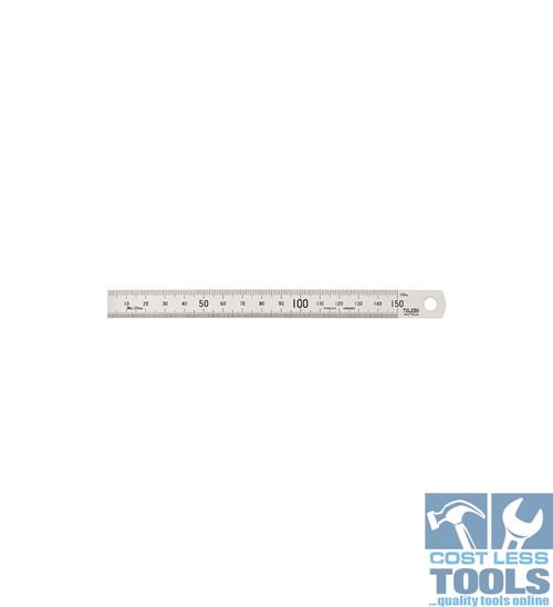 Toledo S/Steel Single Sided Metric Rule 150mm