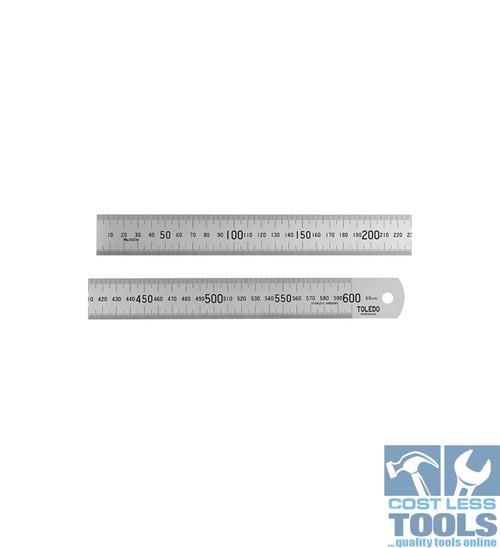 Toledo S/Steel Single Sided Metric Rule 600mm