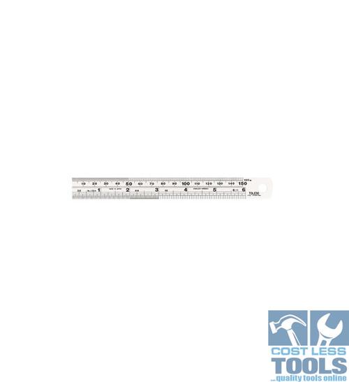 Toledo S/Steel Single Sided Metric & Imperial Rule 150mm