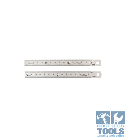 Toledo S/Steel Double Sided Metric Rule 150mm