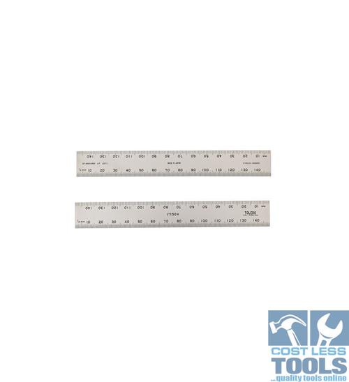 Toledo S/Steel Double Sided Metric Rule 300mm