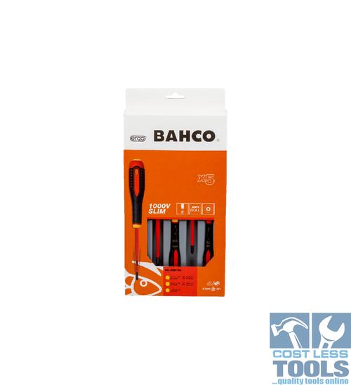 Bahco 1000V VDE Insulated Slim Screwdriver Set - BE-9881SL