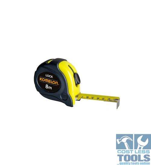 Komelon Lock Tape Measure 8m x 25mm