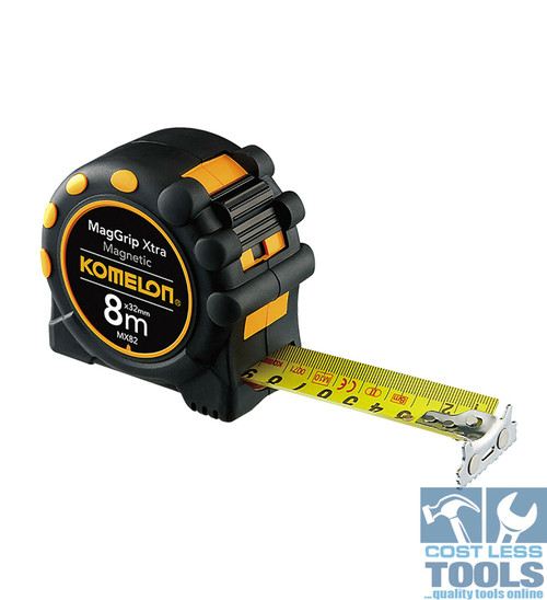 Komelon MagGrip Xtra Magnetic Tape Measure 8m x 32mm