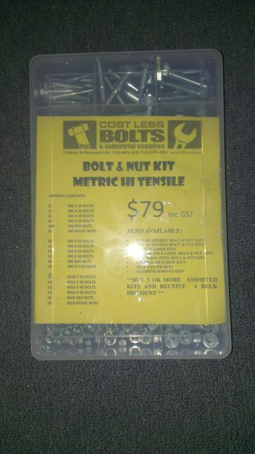 Metric High Tensile Bolt & Nut Kit