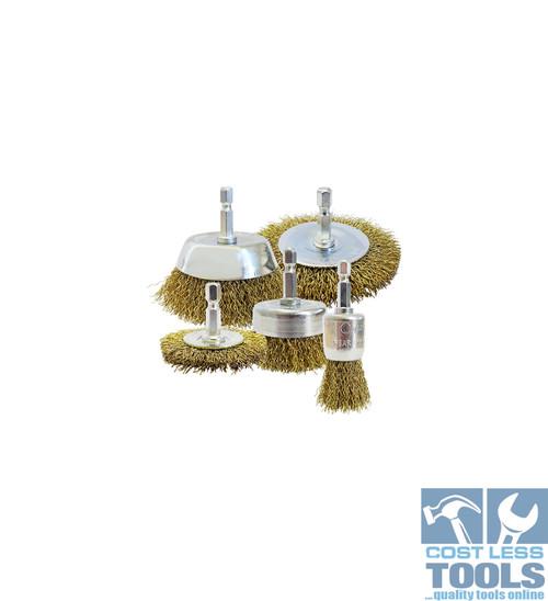 Josco Wire Brush Kit Hex Shank - BRUKIT5