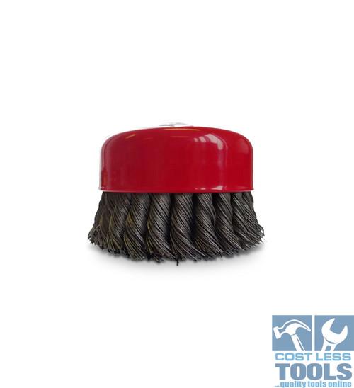 Josco 0.5mm Steel Twist Knot Wire Cup Brush