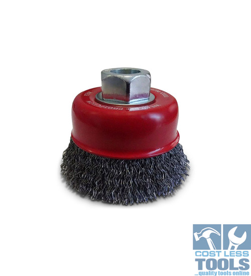 Josco 75mm 0.3mm Steel Crimped Wire Cup Brush