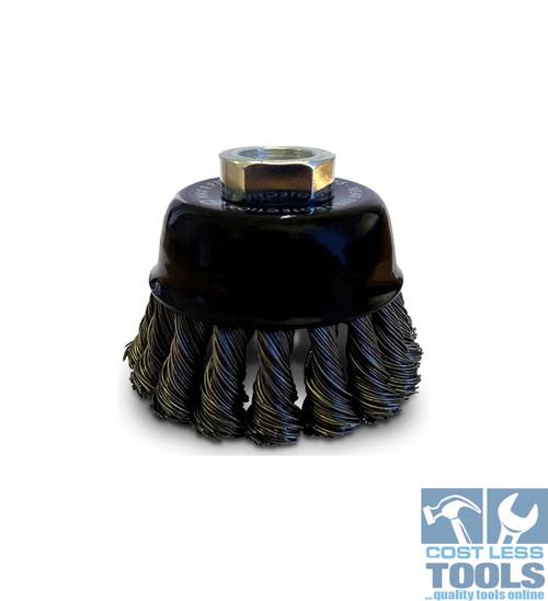 Josco 0.45mm Steel Twist Knot Wire Cup Brush