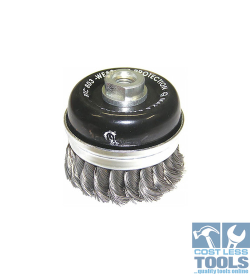 Josco 0.45mm Steel Twist Knot Skirted Wire Cup Brush