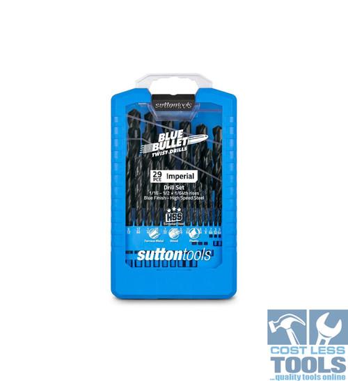Sutton 29 Piece HSS Imperial Blue Bullet Drill Set - D102S3