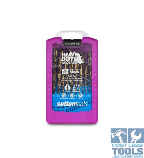 Sutton 25 Piece Metric HSS Cobalt Drill Set - D109SM3