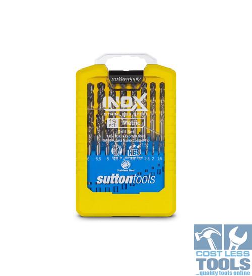 Sutton 19 Piece Metric HSS R40 Inox Drill Set - D180SM2