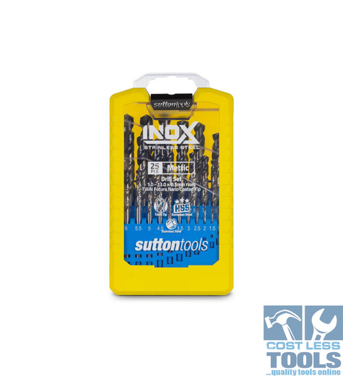 Sutton 25 Piece Metric HSS R40 Inox Drill Set - D180SM3