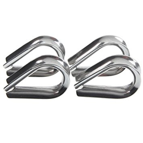 100 x 3mm Stainless Steel Wire Rope Thimbles for Balustrade
