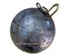 "30 pound (480 oz) Salmon Lead  Cannonball Sinker with Swivel 5"" Diameter"