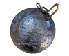 "50 pound (800 oz) Salmon Lead  Cannonball Sinker with Swivel 6"" Diameter"