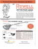 "Casting Ladle Bottom-pour Rowell #8 - 8"" Bowl Diameter, 29"" Handle Length"